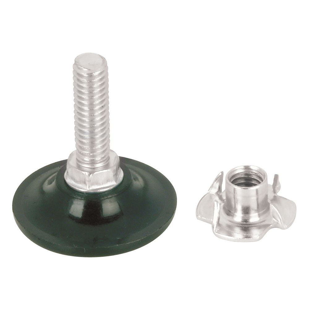 Richelieu (Pack of 2) 5/16-inch - 18 x 1-inch (25.4 mm) Leveler with Nut