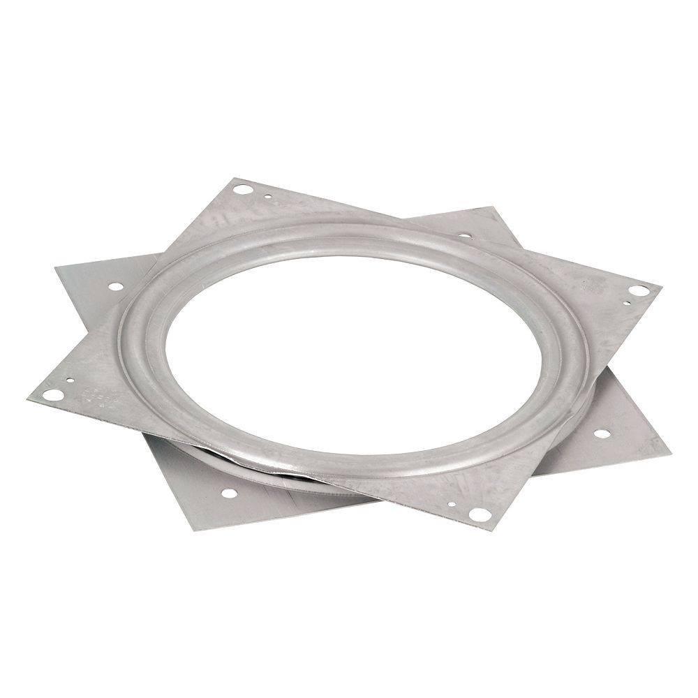 Richelieu Square Steel Swivel Plate 6 in. X 6 in. - 500 lbs (227 Kg) - Zinc