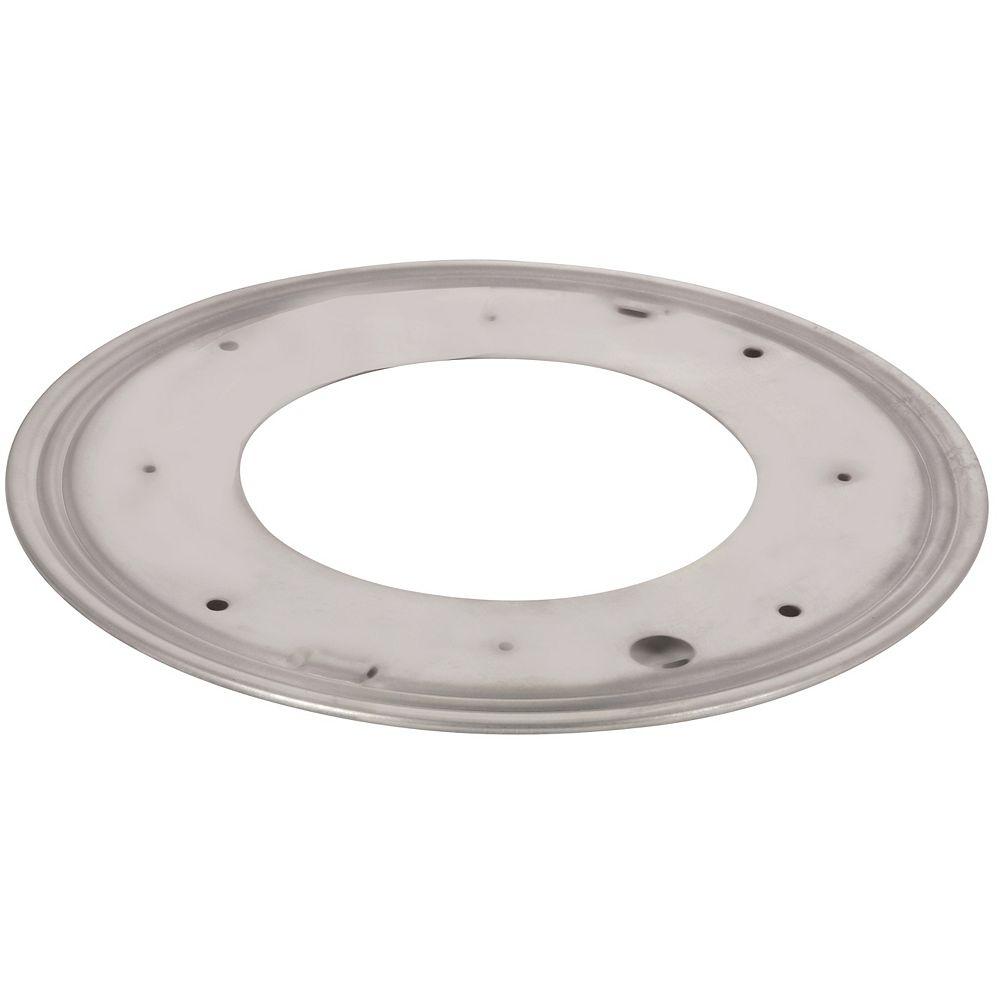 Richelieu Round Steel Swivel Plate - 9 in. - 750 lbs (340 Kg) - Zinc