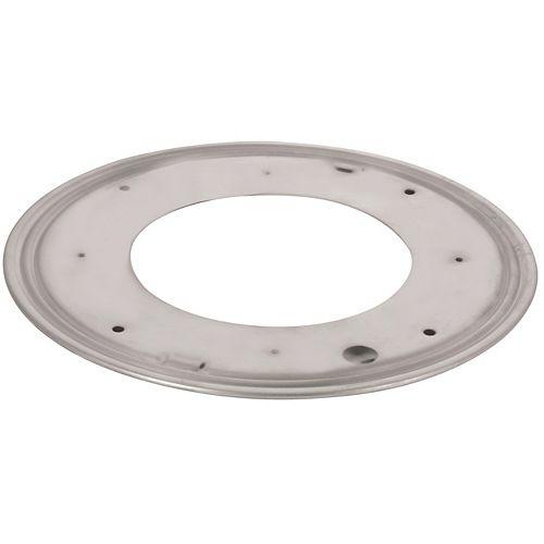 Round Steel Swivel Plate - 9 in. - 750 lbs (340 Kg) - Zinc