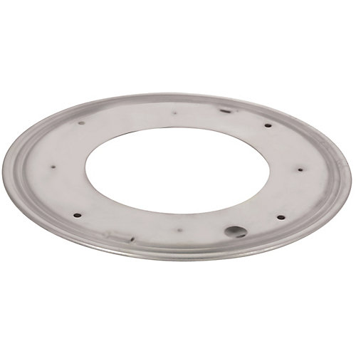 Round Steel Swivel Plate - 12 in. - 1000 lbs (454 Kg) - Zinc