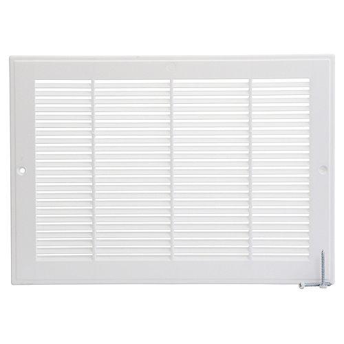 HDX 12 inch x 8 inch Plastic Sidewall Grille - White