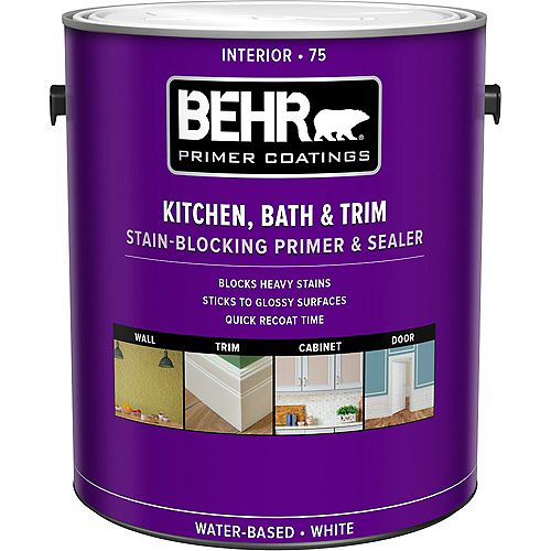 Kitchen, Bath & Trim Interior Stain-blocking Primer & Sealer 75, 3.79L