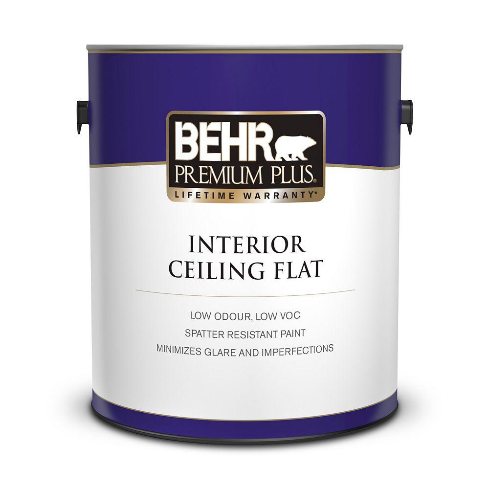 Behr Premium Plus Interior Ceiling Paint - Ultra Pure White, 3.79L