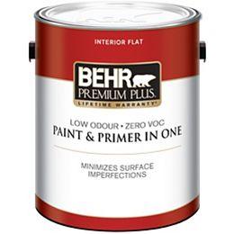 Ultra Pure White Flat Interior Paint & Primer, 3.79 L