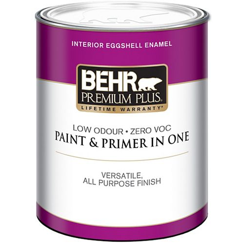 Interior Eggshell Enamel Paint - Ultra Pure White, 946ML