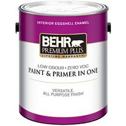 Premium Plus Interior Eggshell Enamel Paint in Ultra Pure White, 3.79 L