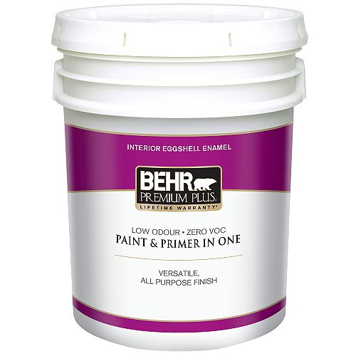 Interior Eggshell Enamel Paint - Ultra Pure White, 18.9 L