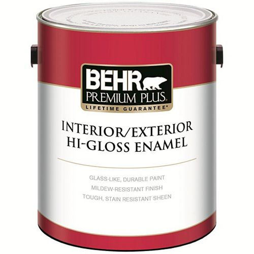Behr Premium Plus Int/Ext Gloss Pure White 3.79l
