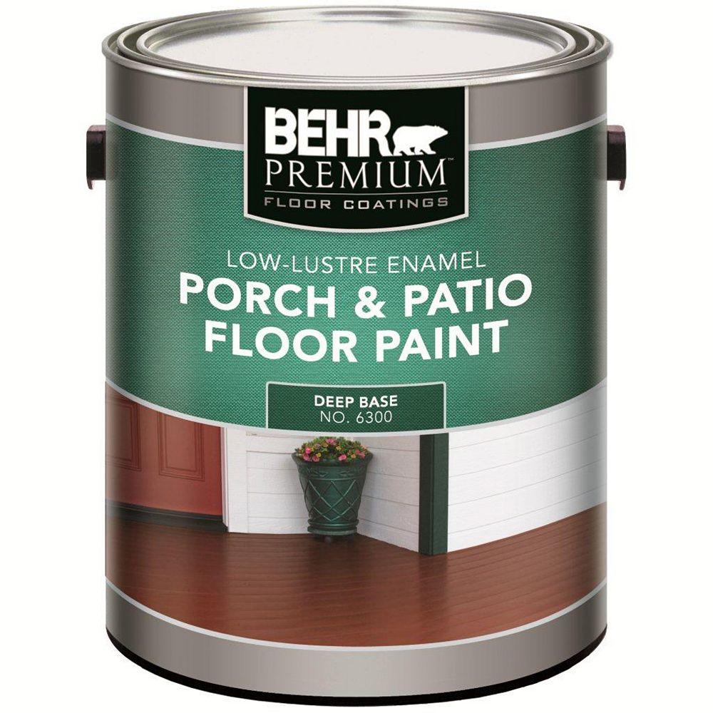 Behr Premium FLOOR COATINGS Interior/Exterior Porch & Patio Floor Paint - Low-Lustre Enamel, Deep Base, 3.43 L