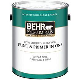 Interior Semi-Gloss Enamel Paint - Ultra Pure White, 3.79 L