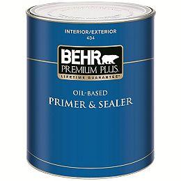 Interior/Exterior Oil-Based Primer & Sealer 434, 946mL