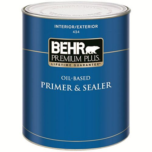 Behr Premium Plus Interior/Exterior Oil Based Primer & Sealer434, 946mL