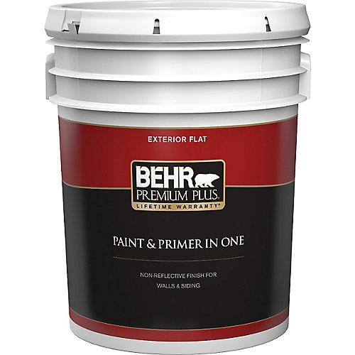 Peinture & apprêt en un - Extérieur mat - Blanc ultra pur, 18,9 L