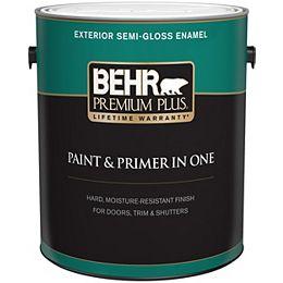 Exterior Paint & Primer in One, Semi-Gloss Enamel - Deep Base, 3.7 L