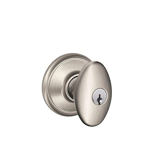 Siena Satin Nickel Keyed Entry Knob