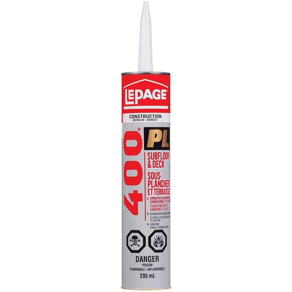 LePage LePage PL400 Adhésif Pour Sous-Planchers & Terrasses, 295 ml