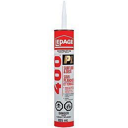 LePage PL400 Subfloor and Deck Adhesive, 825 ml