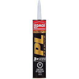 LePage PL Premium Polyurethane Construction Adhesive, 295 ml