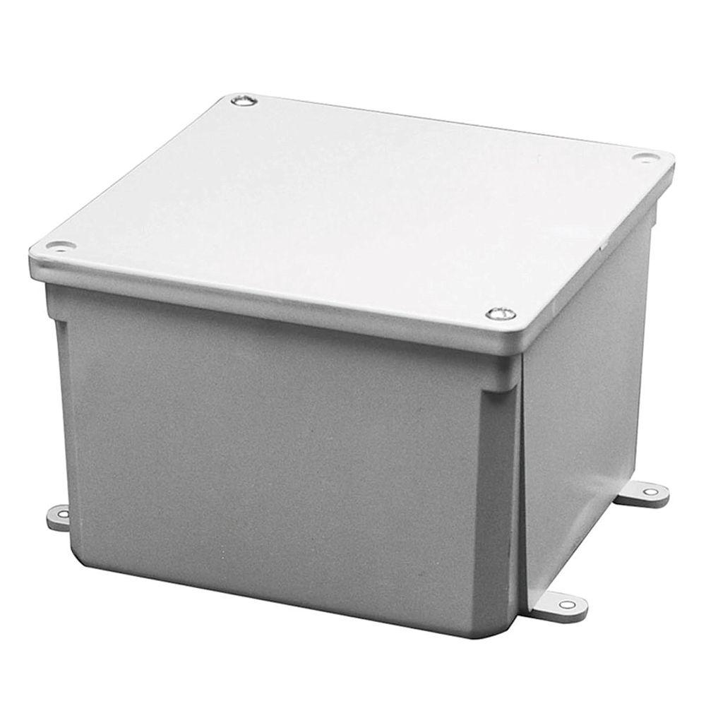 Carlon Thermoplastic Junction Box  6x6x6  In