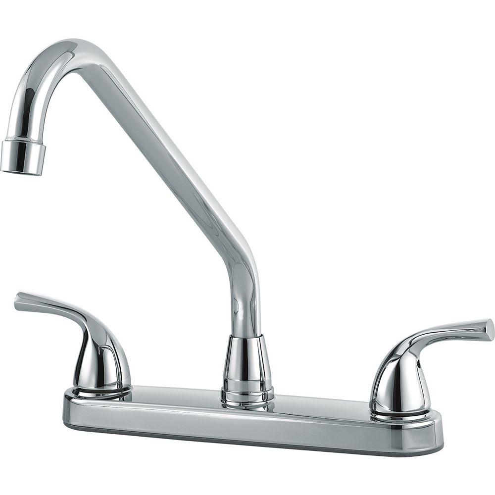 Delta Classic Two Handle Kitchen Faucet, Chrome