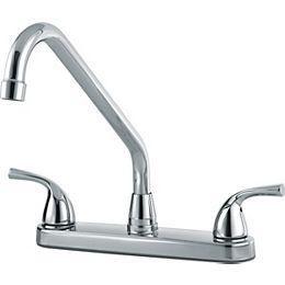 Classic Two Handle Kitchen Faucet, Chrome