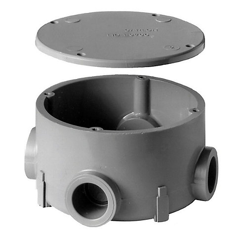 PVC Round Junction Box  1/2 Inch