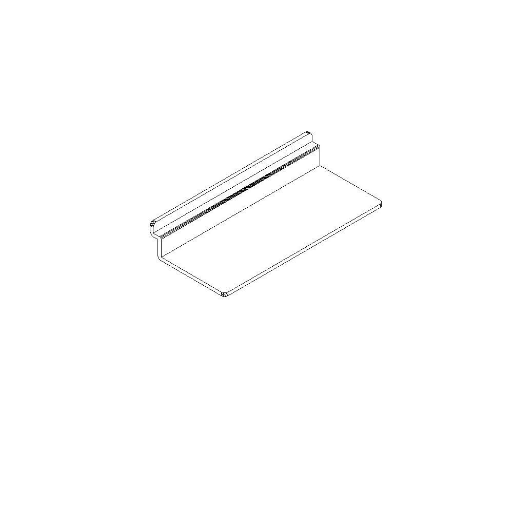 "Goodfellow Slotwall Accessory #1213 plastic 4"" x 10 shoe shelf"