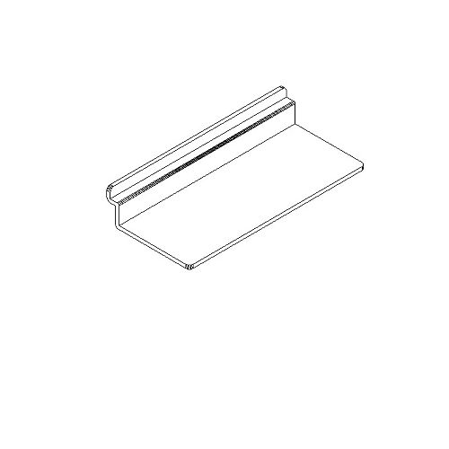 "Slotwall Accessory #1213 plastic 4"" x 10 shoe shelf"