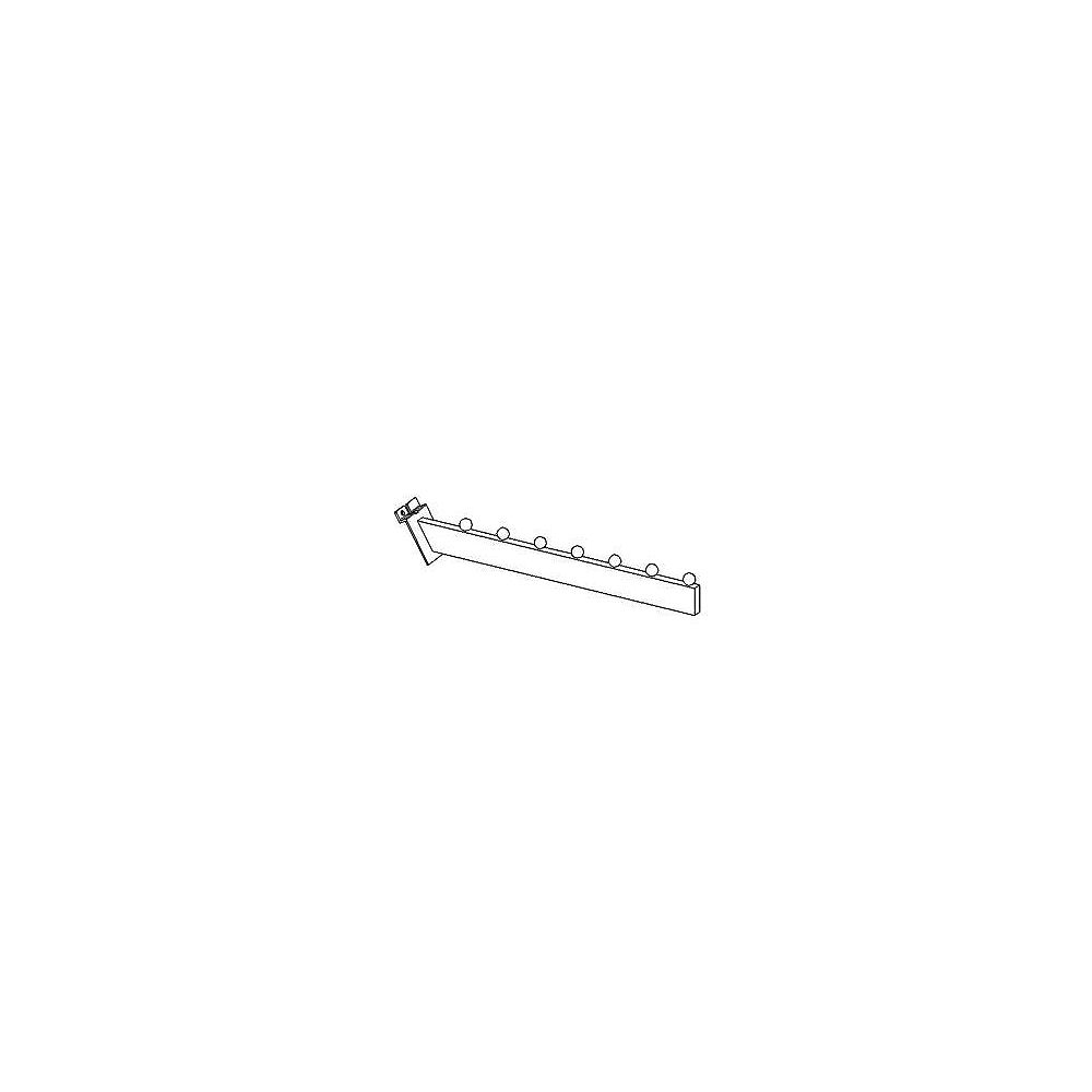 Goodfellow Slotwall Accessory #2807 Chrome 16 Inch Waterfall Hook With 7 Balls To Accommodate Mershandise