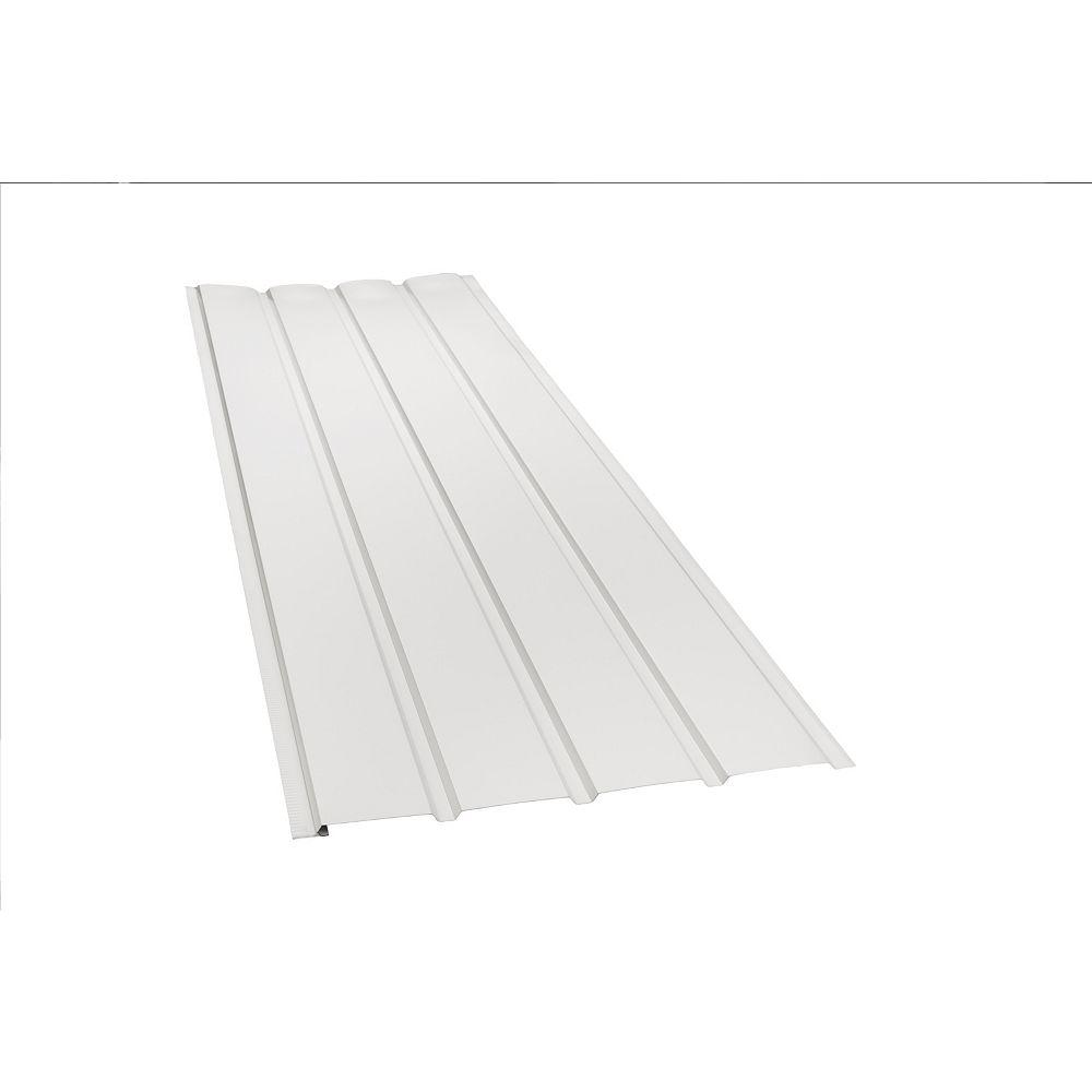 Peak Products Soffite non ventilé en aluminium à 4 panneaux, 10 pi x 16 po - blanc