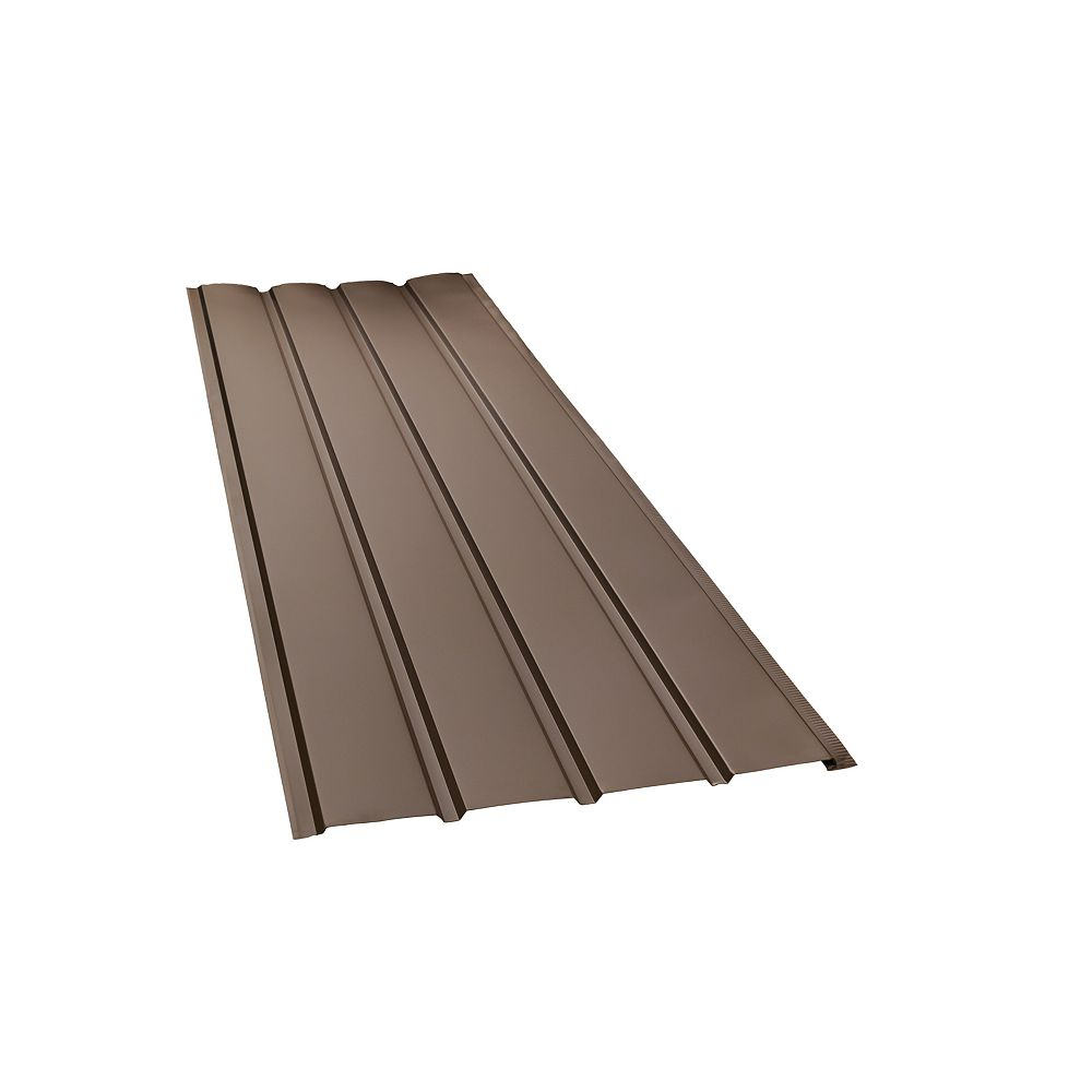 Peak Products 10 ft. L x 16-inch W Aluminum 4-Panel Non-Vented Soffit in Brown
