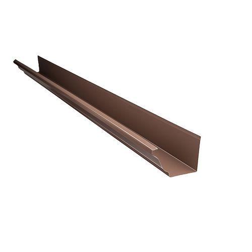 10 ft. x 5-inch Aluminum Gutter in Brown
