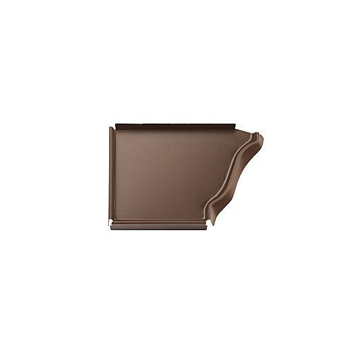 Aluminum Gutter 5 Inch Left Hand End Cap - Brown