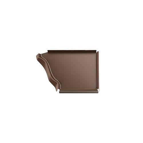 Capuchon d'extrémité droit en aluminium, 5 po - brun