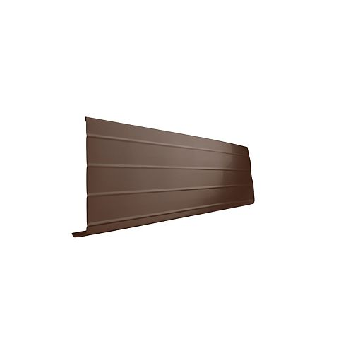 Bordure de fascia en aluminium, 10 pi x 8 po x 1 po - brun