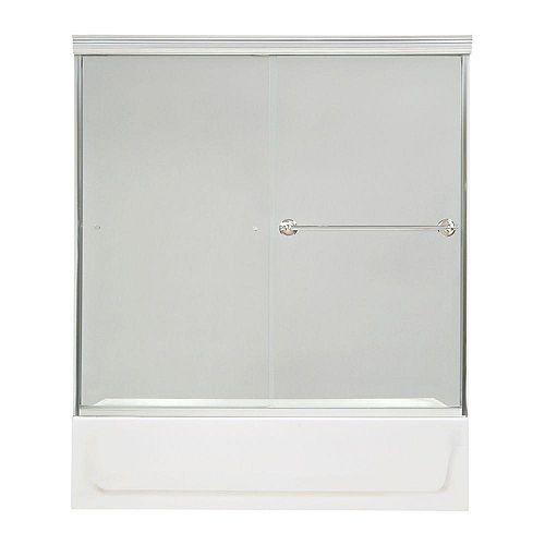 Noble 2-Panel Frameless Clear Tub Door