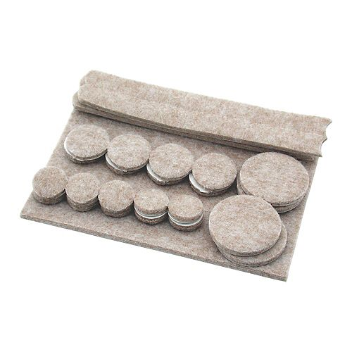 Assorted Heavy-Duty Self-Adhesive Felt Pads (27-Pack)