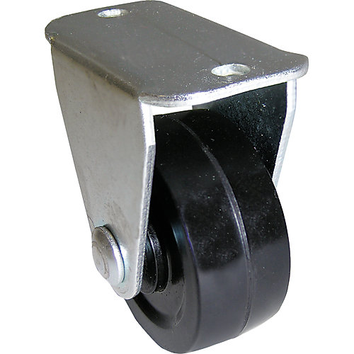 1-1/4 inch Soft Rubber Rigid Caster with 30 lb. Load Rating