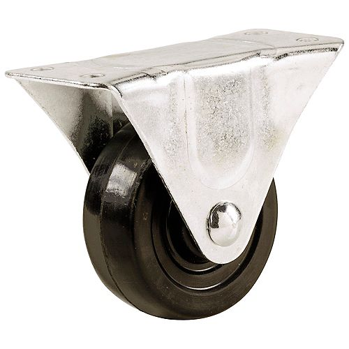 1-1/2-inch Soft Rubber Wheel Rigid Caster with 40 lb. Load Rating