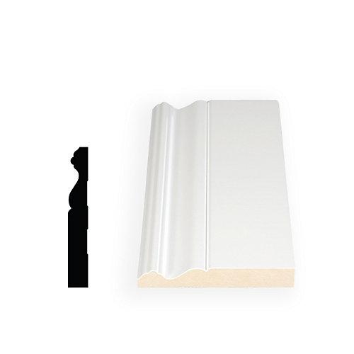 11/16-inch x 4 3/4-inch x 96-inch Colonial MDF Primed Fibreboard Baseboard Moulding