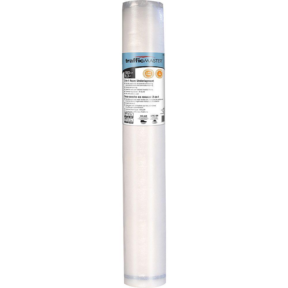 Foam Underlayment, Underlayment For Laminate Flooring On Concrete Home Depot