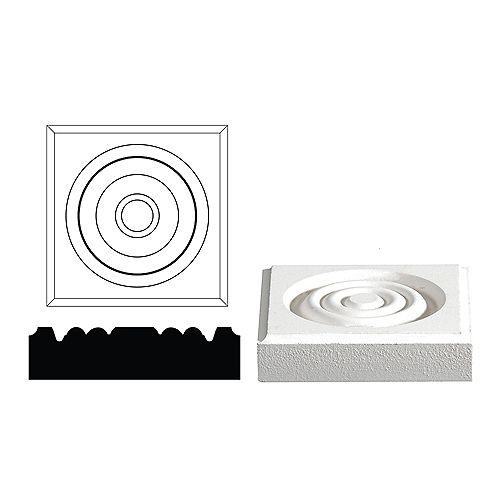 Primed Fibreboard Corner Block 3/4 In. x 3 In. x 3 In.