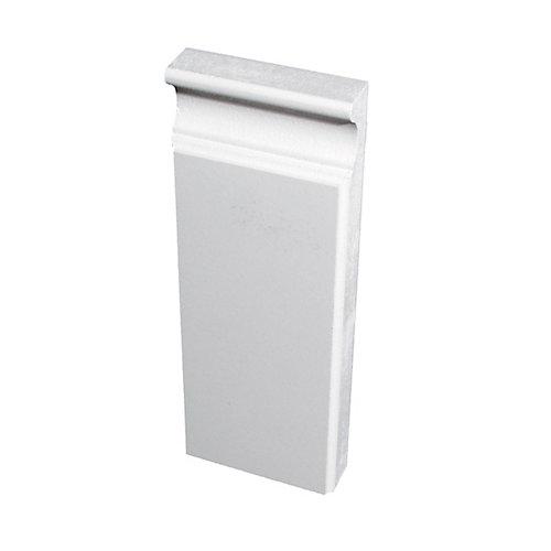 Primed Fibreboard Plinth Block 7/8 In. x 3 In. x 8 Ft.