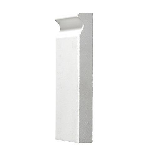 Primed Plinth Block 1 In. x 3-3/4 In. x 8 In.