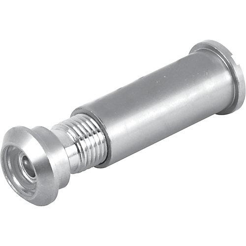 Microviseur à angle de 160 degrés, fini nickel satiné pour porte