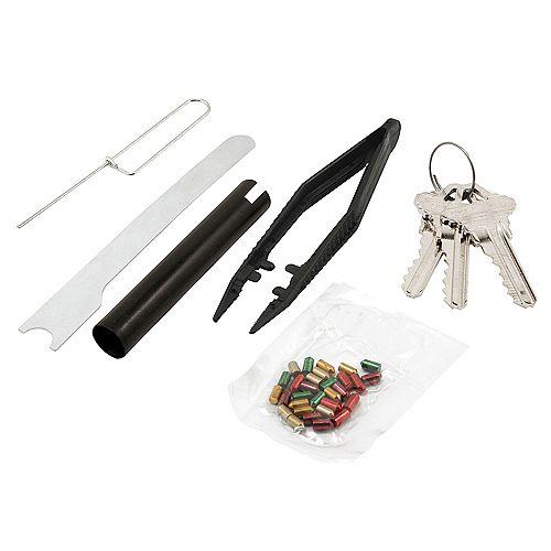 """Re-Key A Lock Kit, Schlage Type """"C"""", 5-Pin Tumbler Sets w/Pre-cut Keys"""