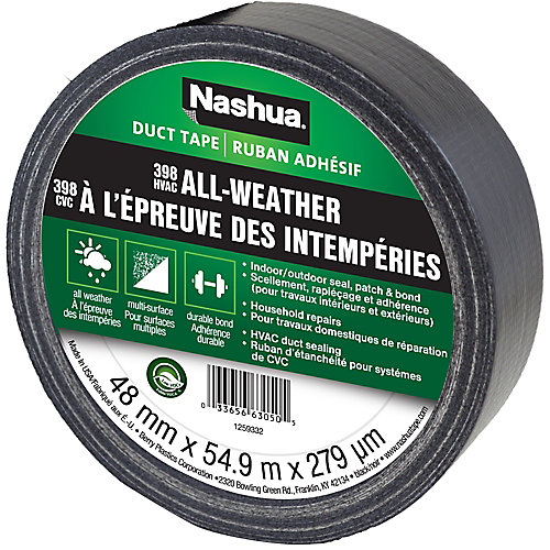 1.89 in x 60 yd 398 All-Weather Duct Tape Black