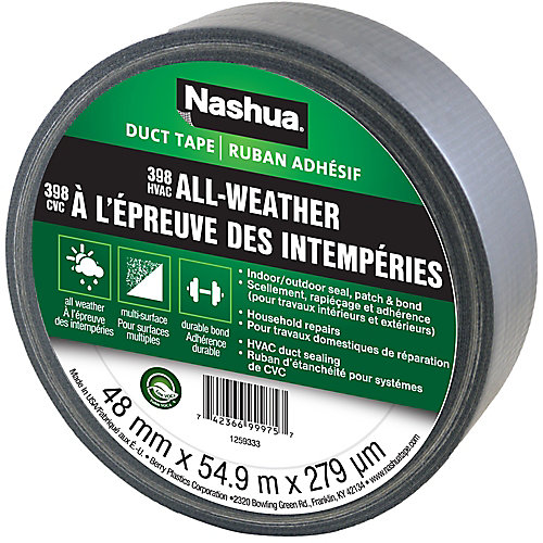 1.89 in x 60 yd 398 All-Weather Duct Tape Silver