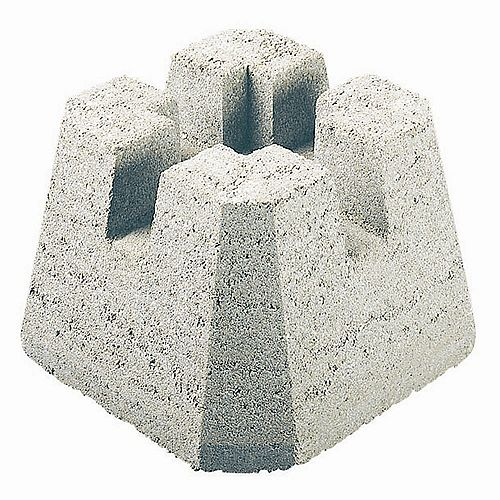 Patio 4Way DekBlock Grey